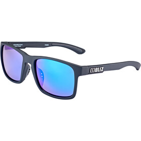 Bliz Luna M9 Brille matt rubber black/smoke with blue multi
